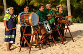 Polynesian Pacific Island Tahitian Music Group — Stock Photo