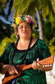 Polynesian Pacific Island Tahitian Music — Stock Photo