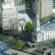 Aerial view of Auckland Town Hall New Zealand NZ — Stock Photo