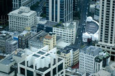 Aerial view of apartments buildings in Auckland downtown — Stock Photo
