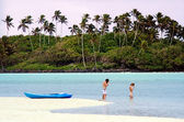 Muri Lagoon in Rarotonga Cook Islands — Stock Photo