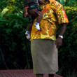 Fijian people - Fijian man carry his son — Stock Photo