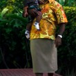 Stock Photo: Fijipeople - Fijimcarry his son