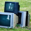 Stock Photo: Broken television
