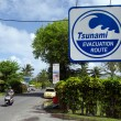 Tsunami evacuation route in RarotongCook Islands — Stock Photo #33846043