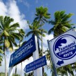 Tsunami evacuation route in Rarotonga Cook Islands — Stock Photo
