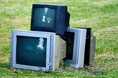 Zepsuty telewizor — Zdjęcie stockowe