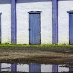 Old purple doors — Stock Photo #34006039