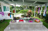 Family grave in Rarotonga Cook Islands — Foto de Stock