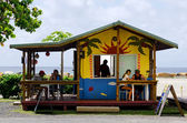 Cafe shop in Rarotonga Cook Islands — Stock Photo