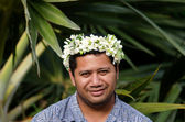 Portrait of Polynesian Pacific Island Tahitian mature man — Stock Photo
