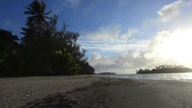 Muri lagune in rarotonga, Cookeilanden — Stockvideo
