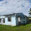 Stock Photo: Destroyed house from Cyclone Pat in Aitutaki Lagoon Cook Island