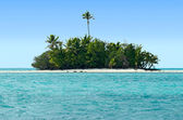 Landscape of Rapota Island in Aitutaki Lagoon Cook Islands — Foto Stock