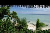 熱帯太平洋の島でビーチ バンガロー — Stock fotografie