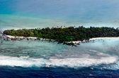 Aerial view of Aitutaki Lagoon Cook Islands — Stock Photo