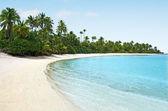 Landscape of One foot Island in Aitutaki Lagoon Cook Islands — Stockfoto