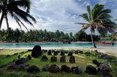 Te-Poaki-O-Rae in Aitutaki Lagoon Cook Islands — Stock Photo