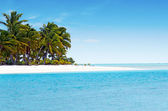 Landscape of One foot Island in Aitutaki Lagoon Cook Islands — Stock Photo