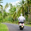 Stock Photo: transportation in aitutaki cook islands