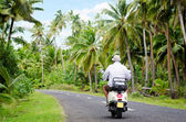 Transportation in Aitutaki Cook Islands — Stock Photo