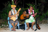 Music of Polynesian Pacific Island in Aitutaki Lagoon Cook Island — Stock Photo