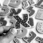 Hebrew alphabet letters — Stock Photo