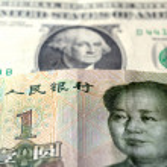 Chinese Yuan on American Dollar — Stock Photo #36144935