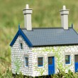House on green grass — Stock Photo