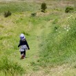 Child travel in the nature — Foto de Stock