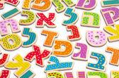 Еврейский алфавит буквы — Стоковое фото