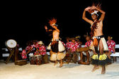 Young Polynesian Pacific Island Tahitian Men Dancers — Stock Photo