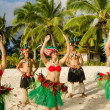 Polynesian Pacific Island Tahitian Dance Group — Stock Photo #36522569