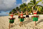 Polynesian Pacific Island Tahitian Dance Group — Stock Photo