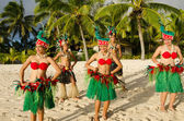 Polynesian Pacific Island Tahitian Dance Group — Stock Photo