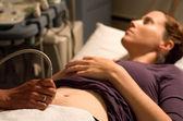 Pregnancy ultrasound scanning — Stock Photo