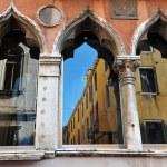 Venice Italy Cityscape - Venictian window — Stock Photo #36865039