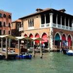 Venice Cityscape - Rialto Market — Stock Photo