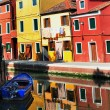 Burano island in the Venetian Lagoon, Italy — Stock Photo