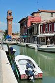 Murano Island in the Venetian Lagoon, Italy — Foto Stock