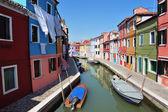 Остров Бурано в Венецианской лагуне, Италия — Стоковое фото