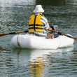 Stock Photo: Mrows dinghy boat