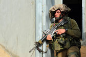Israeli soldier during Urban Warfare — Stock Photo
