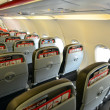 Stock Photo: Interior of empty airplane