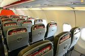 Interior do avião vazio — Fotografia Stock