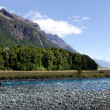 Fisherman fly fishing in Fiordland — Stock Photo #39823153