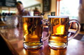 Mugs of beer — Stock Photo