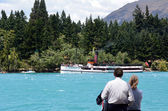 TSS Earnslaw in Queenstown NZ — Foto Stock