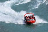 High speed jet boat ride - Queenstown NZ — Stock Photo