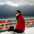 Woman on a cruise boat — Stock Photo #40565565